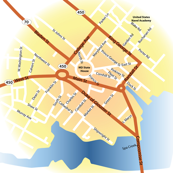 Map Of Downtown Annapolis Md Pictures To Pin On Pinterest